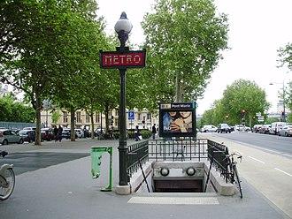 Pont Marie (Paris Métro) - Image: Pont Marie métro 01