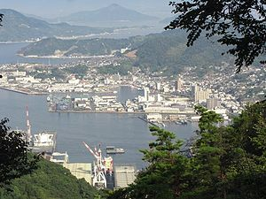 Kure, Hiroshima - Port of Kure seen from Mount Yasumi