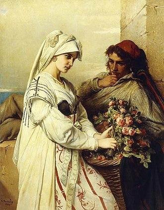 Jean-François Portaels - The Rose Vendor
