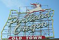 Portland, Oregon sign, Old Town 2012.JPG