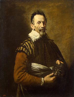 Domenico Fetti - Image: Portrait of an Actor Domenico Fetti Hermitage ГЭ 153 (3736 x 2859 px)