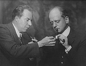 Christopher Morley - Christopher Morley and publisher Mitchell Kennerley on June 9, 1930