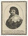 Portret van Frederik V, keurvorst van de Palts in ovaal Fridericvs D.G. Bohemiae (..) utriusq Lusat etc. (titel op object), RP-P-1908-3843.jpg