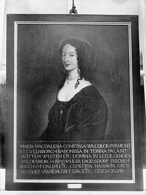 Portret van Maria Magdalena van Nassau - Culemborg - 20051702 - RCE