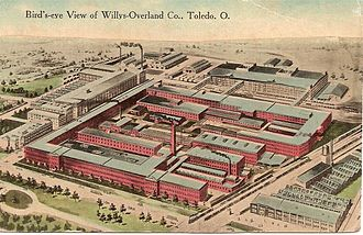 Willys - Factory in Toledo, Ohio, in about 1915