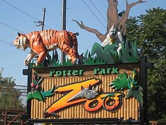 Potter Park Zoo - Zoo entrance sign along Pennsylvania Avenue