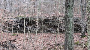 National Register of Historic Places listings in Crawford County, Indiana - Image: Potts Creek Rockshelter