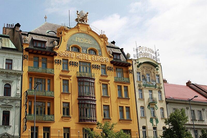 File:Prague Praha 2014 Holmstad Grand Hotel Europa og Hotel Meran 2.jpg
