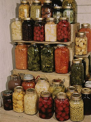 Mason jar - A collection of mason jars filled with preserved foods