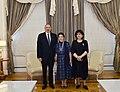 President Ilham Aliyev and Fidan Gasimova.jpg