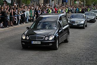Mauno Koivisto - The funeral cortege of Mauno Koivisto on 25 May 2017 in Helsinki.