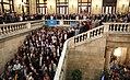 """President Puigdemont, """"Ciutadans de Catalunya, vénen hores en què a tots ens pertocarà de mantenir el pols del nostre país"""" 03.jpg"""