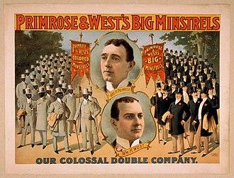 Primrose and West - Image: Primrose west minstrel poster c 1896