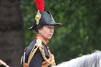 Gold Stick and Silver Stick - The Princess Royal on duty as Gold Stick-in-Waiting, in her uniform as Colonel of the Blues and Royals.