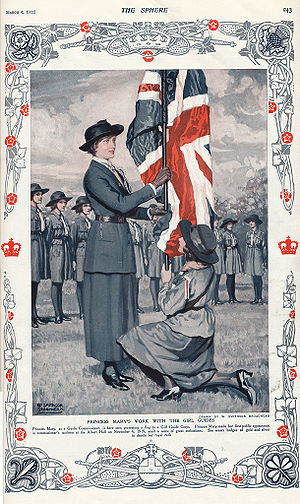 Girl Guides - Princess Mary and Girl Guides, 1922