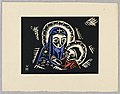 "Print, Madonna s Brozskym Detatkem, Madonna and Child, Plate II, ""Ethiopie, cili Christos, Madonna a Svati, jak jsem ie videl v illuminacich starych ethiopskych kodexu"" Portfolio, 1920 (CH 18684911-2).jpg"