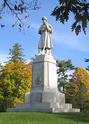The American Volunteer (statue) - Image: Private Soldier Monument Antietam National Cemetery NPS
