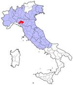 La zona ammessa per la produzione del Prosciutto di Parma