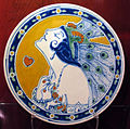 Puebla de los angeles (messico), bottega di ysauro uriarte, piatto, 1920 ca..JPG