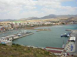 Mazarrón port and beach