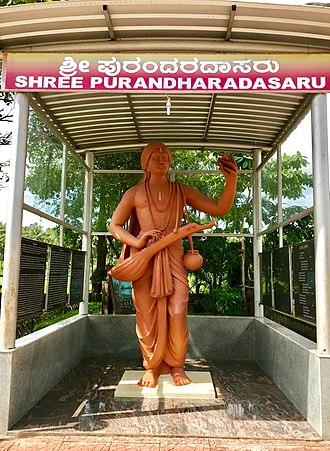 Purandara Dasa - Statue of Purandara Dasa