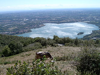 Lake of Pusiano - View from Monte Cornizzolo