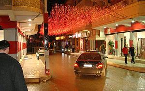 Qamishli - Qamishli streets during Christmas