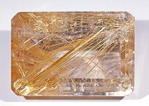 Rutilated quartz - Rutilated quartz as gemstone