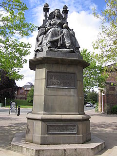 statue in St Helens, England