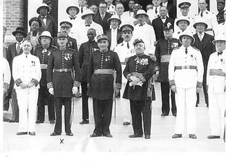 French West Africa - A gathering of former Governors of Senegal in Dakar, 1950s