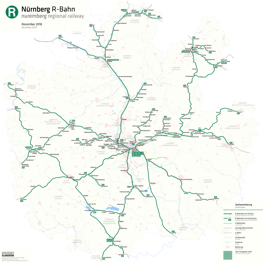 Regionalbahnlinien Im Verkehrsverbund Großraum Nürnberg