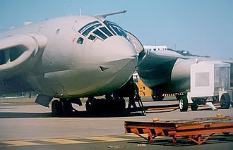 Royal Air Force, Bermuda (1939–45) - RAF Victor  XM717 at the Civil Air Terminal on the former US NAS Bermuda ca. 1985. XM717 took part in the first mission of Operation Black Buck during the Falklands War.