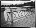 RAIL AND SIDEWALK, WEST SIDE. - Bonner's Ferry Bridge, Spanning Kootenai River, Bonners Ferry, Boundary County, ID HAER ID,11-BONFE,1-8.tif