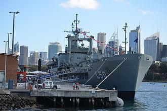 HMAS Tobruk (L 50) - Tobruk during International Fleet Review 2013 Open Day