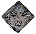 Raha; klippinki; markka; 4 markkaa - ANT2-630a (musketti.M012-ANT2-630a 2).jpg