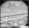 Railroad, showing method of splicing rails - NARA - 530242.tif