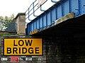 Railway bridge, Lisburn (4) - geograph.org.uk - 2118906.jpg