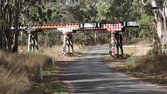 Dalveen, Queensland - Railway bridge on the Southern line over Old Stanthorpe Road at Cherry Gully, 2015