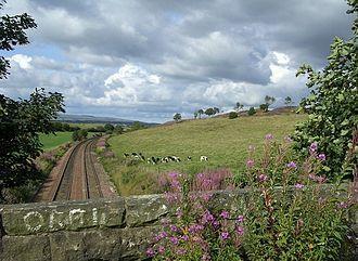 Cumbernauld Line - Route near Greenfoot in 2006