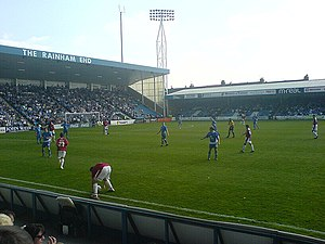 Priestfield Stadium - The Rainham End and Gordon Road Stand during a match in 2007