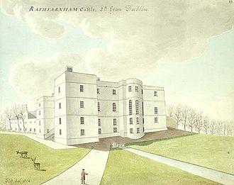 Rathfarnham Castle - The castle in 1774