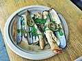 Razor Clams with lime, herbs, olive oil chile, garlic - 16534565288.jpg