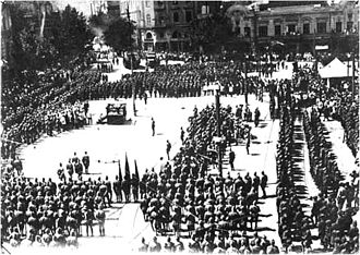 Georgia–Russia relations - Image: Red Army in Tbilisi Feb 25 1921