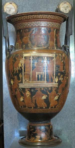 Hades - Red figure volute krater with scene of the Underworld, follower of the Baltimore Painter, Hermitage