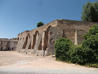 "Redan - ""Cascalho"" Redan in the city walls of Elvas, Portugal"