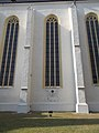 Református templom, lépcsős tagolódású támpillérek, 2017 Nyírbátor.jpg