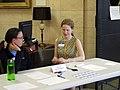 Registration desk at the UNC edit-a-thon, April 2013.jpg