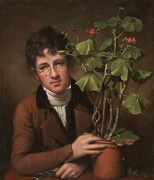 Rubens Peale - Rubens Peale With a Geranium (1801) by Rembrandt Peale.