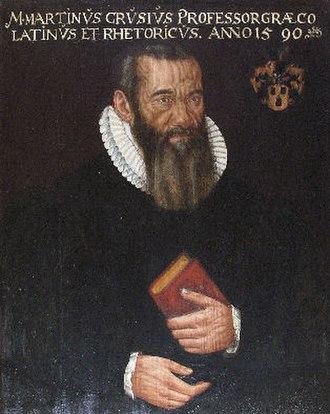 Martin Crusius - Portrait of Crusius Bildnis, copy of an original painting by Anton Ramsler, 1590