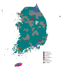 Republic of Korea legislative election 1960 districts result.png